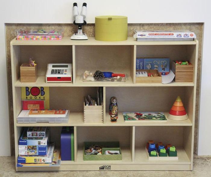 Организация игрушек на полке вместо коробки