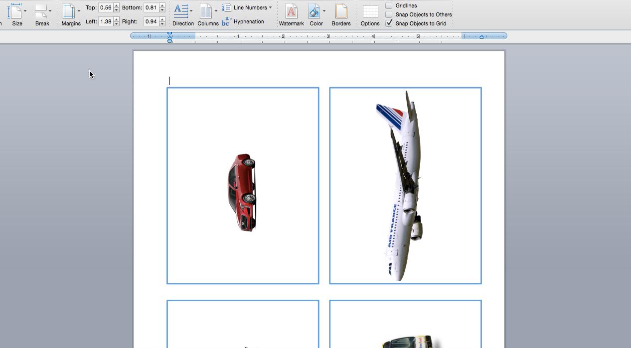 Изготовление карточек с изображениями для расширения словарного запаса