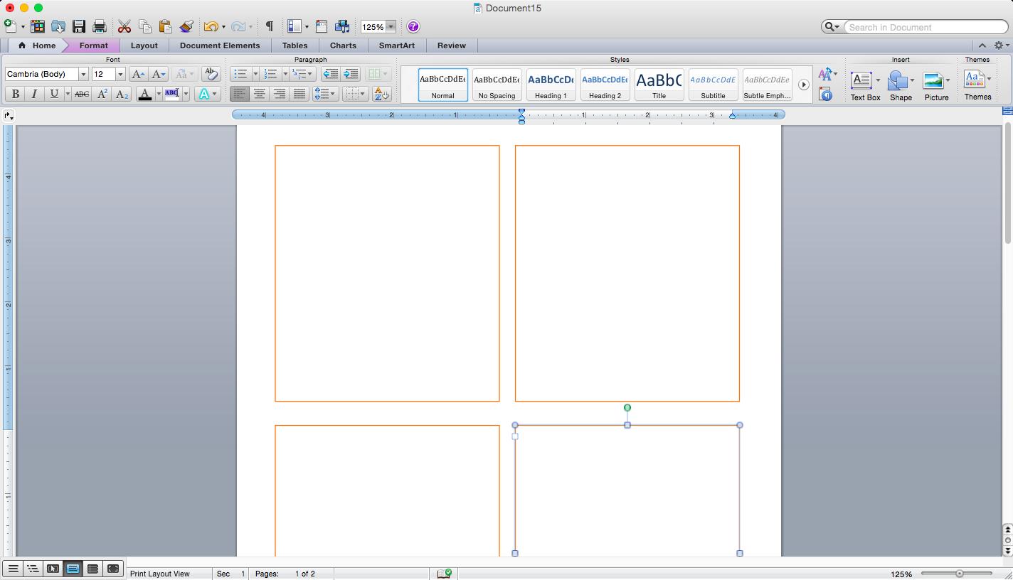 Разметка страницы для карточек с изображениями