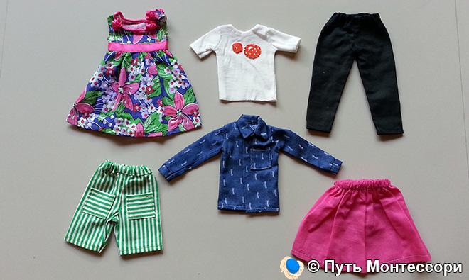 Уменьшенные модели одежды для зоны развития речи
